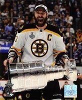 Zdeno Chara with the Stanley Cup  Game 7 of the 2011 NHL Stanley Cup Finals(#42) Fine Art Print