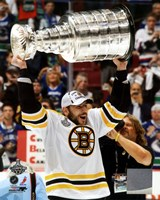 Milan Lucic with the Stanley Cup  Game 7 of the 2011 NHL Stanley Cup Finals(346) Fine Art Print
