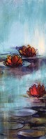 Aqua Lotus II Framed Print