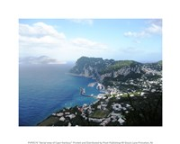 Aerial view of Capri Harbour Fine Art Print
