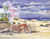 Beach Cruiser Cottage I Framed Print