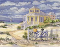 Beach Cruiser Cottage II Framed Print