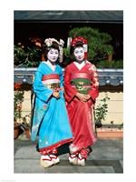 Portrait of two geishas Fine Art Print