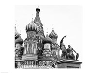Monument of Minin and Pozharsky St. Basil's Cathedral Moscow Russia Fine Art Print