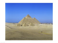 Giza Pyramids, Giza, Egypt (far view) Fine Art Print