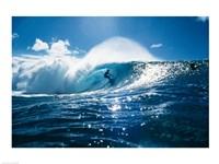 Surfer on the ocean Fine Art Print