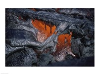 Kilauea Lava Flow Kalapana Hawaii USA Fine Art Print