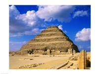 The Step Pyramid of Zoser, Saqqara, Egypt Fine Art Print