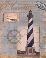 Seacoast Lighthouse I Framed Print