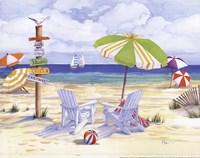Beachside Chairs Fine Art Print