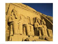 Great Temple of Ramses II, Abu Simbel, Egypt Fine Art Print