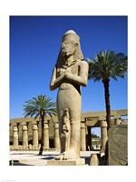 Ramses II Statue, Temples Of Karnak, Luxor, Egypt Fine Art Print