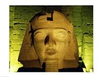 Ramses II statue, Temple of Luxor, Luxor, Egypt Fine Art Print