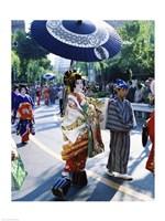 Geisha Parade, Asakusa, Tokyo, Japan Fine Art Print