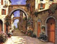 Le Porte Rosse Sulla Strada Fine Art Print