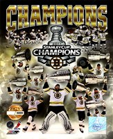 Boston Bruins 2011 NHL Stanley Cup Finals Champions Limited Edition PF Gold (5000 8x10's, 500 each enlargement size) Fine Art Print