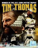 Tim Thomas 2011 NHL Stanley Cup Finals Conn Smythe Winner Portrait Plus Fine Art Print