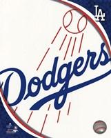 2011 Los Angeles Dodgers Team Logo Fine Art Print