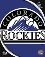 2011 Colorado Rockies Team Logo Fine Art Print