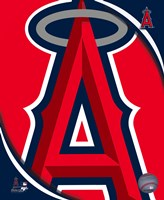 2011 Los Angeles Angels Team Logo Fine Art Print