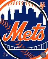 2011 New York Mets Team Logo Framed Print