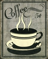 Retro Coffee I Framed Print