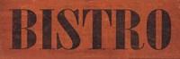 Bistro III Framed Print