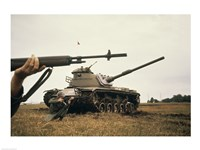 M-14 Rifle M60 Tank Fine Art Print