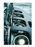 Close-up of a submarine missile silos Fine Art Print