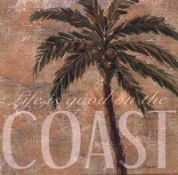 Coastal Palm Framed Print