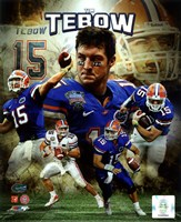 Tim Tebow University of Florida Gators Portrait Plus Framed Print