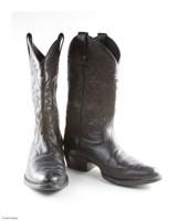 Black Cowboy Boots Fine Art Print
