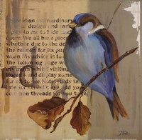 Blue Love Birds I Fine Art Print
