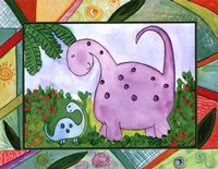 Baby Dino Mytes - Ben and June Framed Print