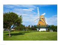 Traditional windmill in a field, City Beach Park, Oak Harbor, Whidbey Island, Island County, Washington State, USA Fine Art Print