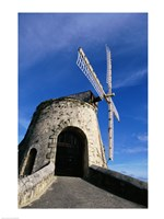 Windmill at the Whim Plantation Museum, Frederiksted, St. Croix Closeup Fine Art Print