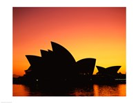 Sunrise over an opera house, Sydney Opera House, Sydney, Australia Fine Art Print