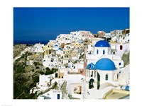 Santorini, Oia, Cyclades Islands, Greece Framed Print