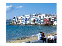 Little Venice, Mykonos, Cyclades Islands, Greece Fine Art Print