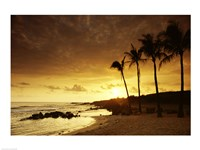 Kauai Hawaii USA at Sunset Fine Art Print