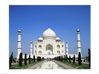 Facade of the Taj Mahal, Agra, Uttar Pradesh, India Fine Art Print