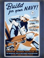 Build for your Navy! Fine Art Print
