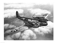 US Army fighter plane in flight Fine Art Print
