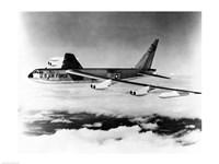 Side profile of a bomber plane in flight, B-52 Stratofortress, US Air Force Framed Print