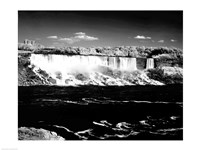 Canada, Niagara Falls, Infrared view, taken from Canadian side Fine Art Print