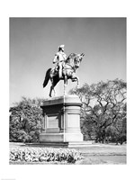 Low angle view of a statue of George Washington, Boston Public Garden, Boston, Massachusetts, USA Fine Art Print