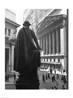 George Washington Statue, New York Stock Exchange, Wall Street, Manhattan, New York City, USA Framed Print