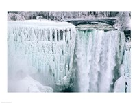 High angle view of a waterfall, American Falls, Niagara Falls, New York, USA Fine Art Print