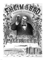 F. Heim and Bros Lager Fine Art Print