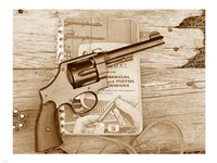 1917 Smith and Wesson with Speer Reloading Handbook Fine Art Print